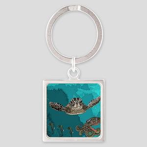 Sea creatures Square Keychain