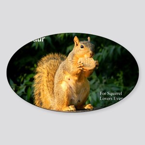 For Squirrel Lovers Everywhere Sticker (Oval)