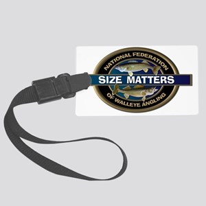 Size Matters Walleye Large Luggage Tag