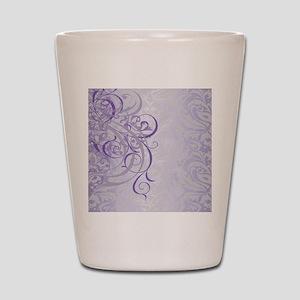 Vintage Rococo Purple Damask Shot Glass