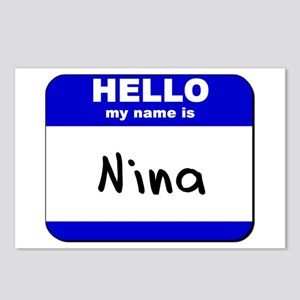 hello my name is nina  Postcards (Package of 8)