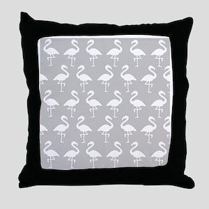 shower flamingo Throw Pillow