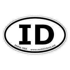 Idaho, USA Oval Bumper Decal