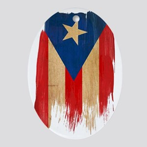 Puerto Rican Flag Oval Ornament
