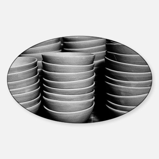 Pottery bowls Sticker (Oval)