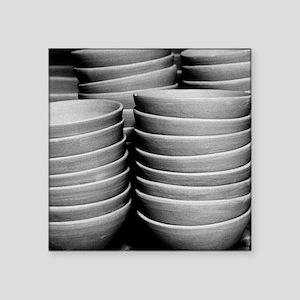"Pottery bowls Square Sticker 3"" x 3"""