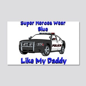 Super Heroes Like Daddy Wall Decal