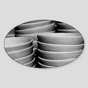 Pottery bowls Sticker (Oval)