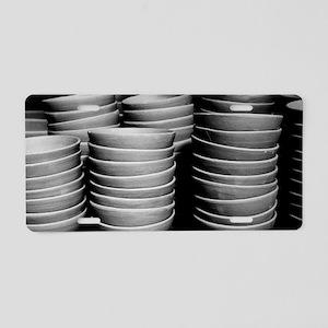 Pottery bowls Aluminum License Plate