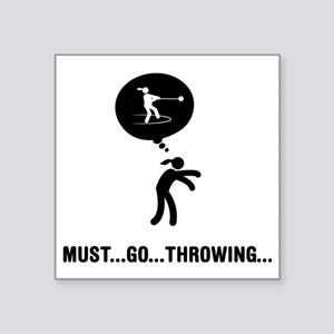 "Hammer-Throw-A Square Sticker 3"" x 3"""