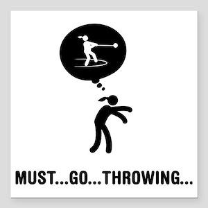 "Hammer-Throw-A Square Car Magnet 3"" x 3"""