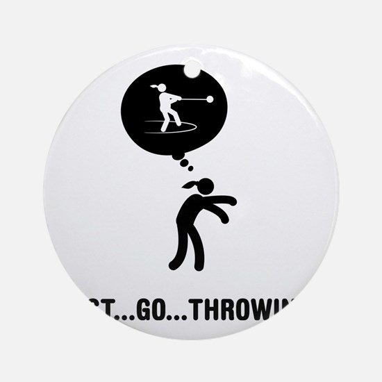 Hammer-Throw-A Round Ornament