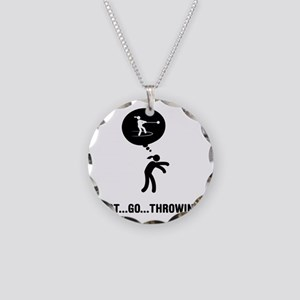 Hammer-Throw-A Necklace Circle Charm