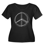 Peace Lines Women's Plus Size Scoop Neck Dark T-Sh