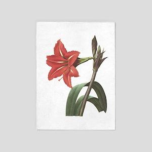 Redoute Amaryllis 5'x7'Area Rug