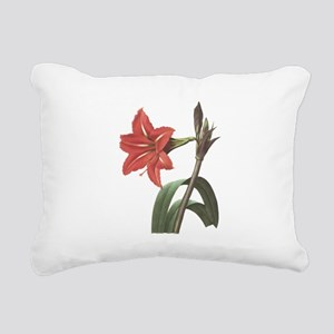 Redoute Amaryllis Rectangular Canvas Pillow