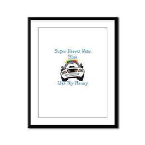 Super Heroes Like Mommy Framed Panel Print
