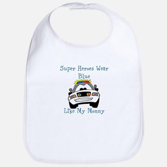 Super Heroes Like Mommy Bib