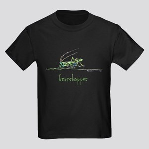 Grasshoppers and Spiders Kids Dark T-Shirt