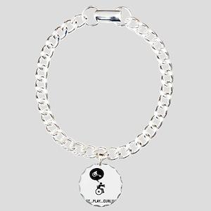 Wheelchair-Curling-C Charm Bracelet, One Charm