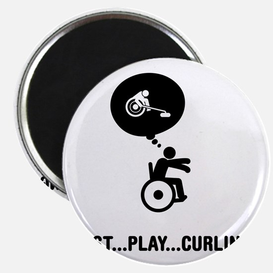 Wheelchair-Curling-C Magnet