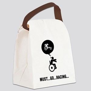 Wheelchair-Racing-A Canvas Lunch Bag