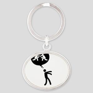 Wrestler-C Oval Keychain