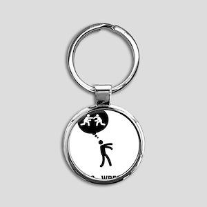 Wrestler-C Round Keychain
