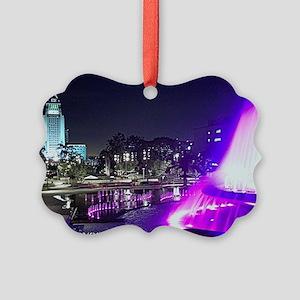 grand park fountain messenger bag Picture Ornament