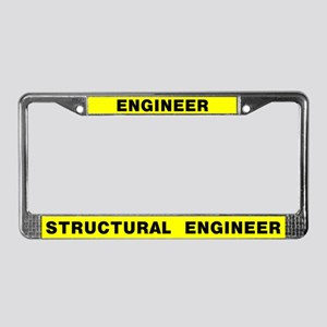 Engineer License Plate Frame