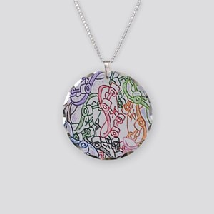 LAX skateboards by bjork all Necklace Circle Charm