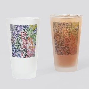 LAX skateboards by bjork all over m Drinking Glass