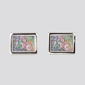 LAX skateboards by bjork all over mens t Cufflinks
