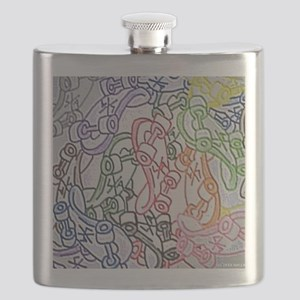 LAX skateboards by bjork all over mens t-shi Flask