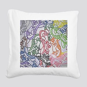 LAX skateboards by bjork all  Square Canvas Pillow
