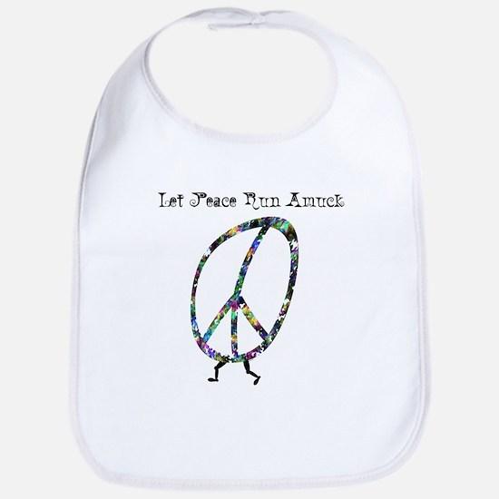 LET PEACE RUN AMUCK Bib