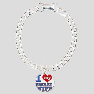 I Love My Swazi Wife Charm Bracelet, One Charm