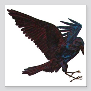 "Odin's Raven Square Car Magnet 3"" x 3"""