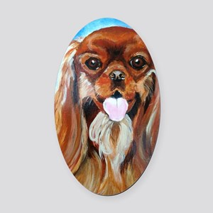Rodeo - Cavalier King Charles Span Oval Car Magnet