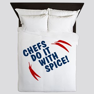 Chefs Do It With Spice Queen Duvet