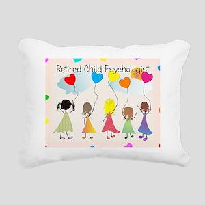 child psychologist retir Rectangular Canvas Pillow