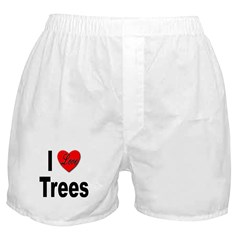 I Love Trees Boxer Shorts