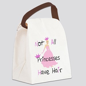 Bald Beautiful Princess Canvas Lunch Bag
