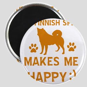 My Finnish Spitz Makes Me Happy Magnet
