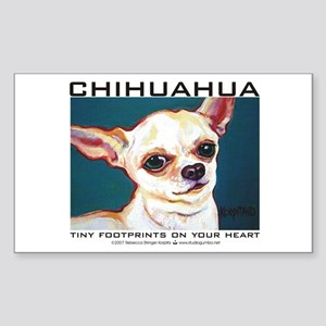 Tiny Footprints Chihuahua Rectangle Sticker