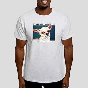 Tiny Footprints Chihuahua Light T-Shirt