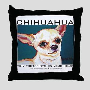 Tiny Footprints Chihuahua Throw Pillow