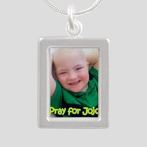 Pray for Jojo Silver Portrait Necklace