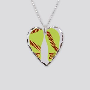 This Girl Loves Softball Necklace Heart Charm
