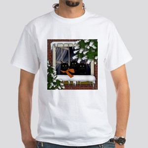 BLACK CATS WINTER WINDOW T-Shirt